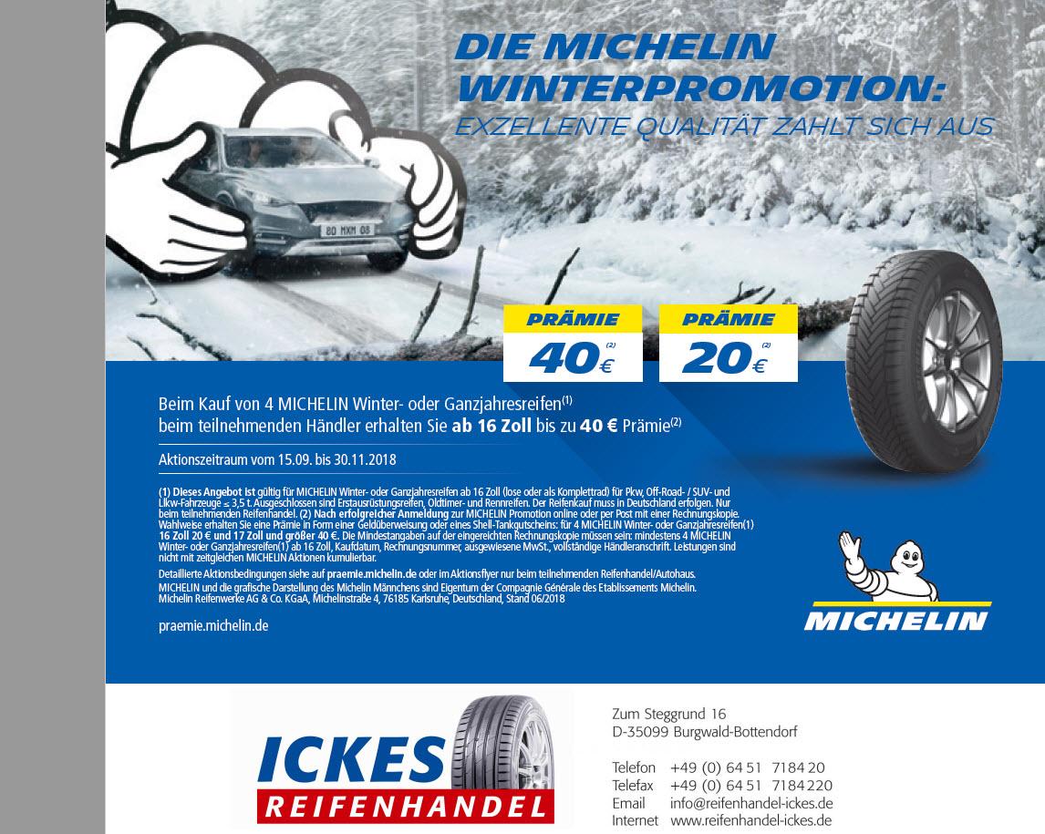 Michelin Aktion 2018 Winter